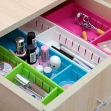 kitchen plastic cutlery drawer with grid storage box free partition cupboard refrigerator organize cases(China)
