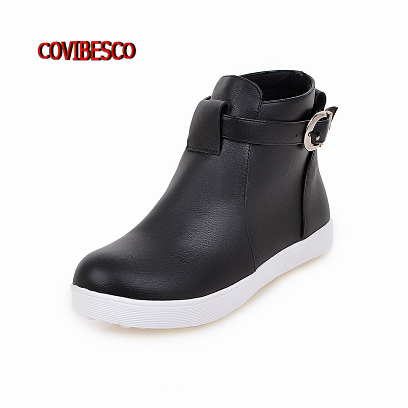 New 2016 fashion female flats heels ankle boots women casual boots spring autumn winter short motorcycle boots women shoes<br><br>Aliexpress