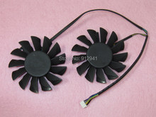 POWER LOGIC PLD08010S12HH 75mm Video Card Dual Fan Replacement 52mm 0.35A 4Pin for MSI Radeon R7850 R7870 R7950 Twin Frozr III