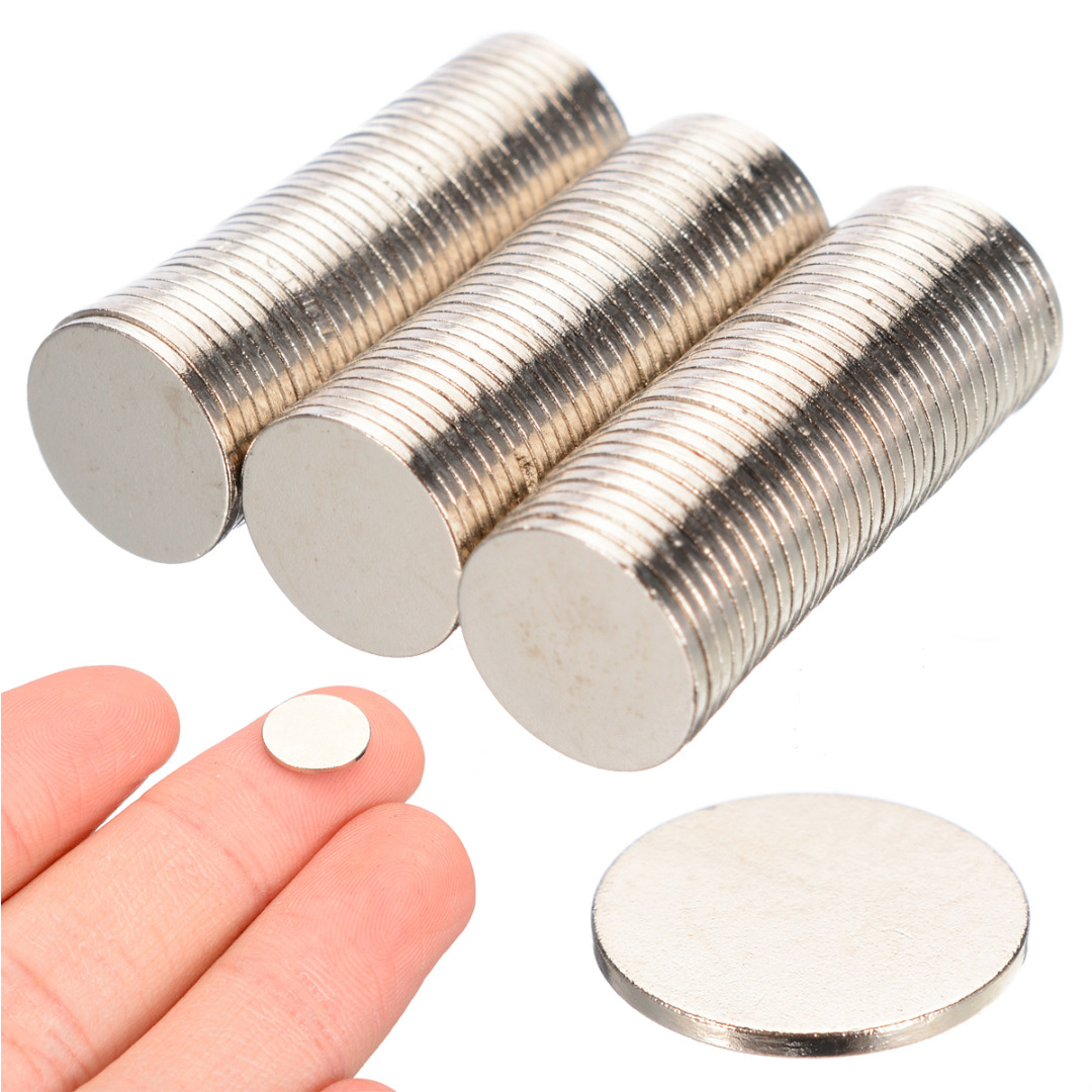 100Pcs 10mmx1mm N35 Magnets Super Strong Round Disc Magnets Strong Round Disc Rare Earth Fridge Craft NdFeB Magnets