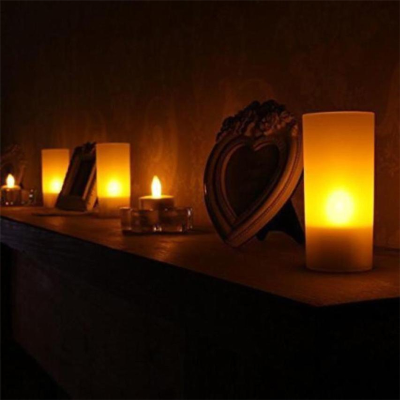 6pc LED Tea Light Candles Realistic Battery-Powered Flameless Candles07