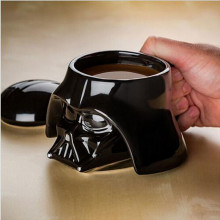 Promotion! Creative Star Wars Black and White 3D Ceramics Cup Coffee Drink Novelty Gift(China)