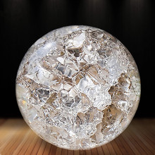 Crystal Glass 50mm Marbles Feng shui Home Decorative Ice Crack Ball Ornaments Water Fountains Bonsai Sphere Ball terrarium decor