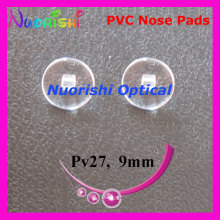 PV27  eyeglass pvc nose pads 9mm Screw-in type  glasses accessories free shipping