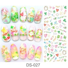 Manicure Watermark Large Sheet Plant Animals Letter Series Stickers Decals Japanese Nail Sticker Decal DS027-032
