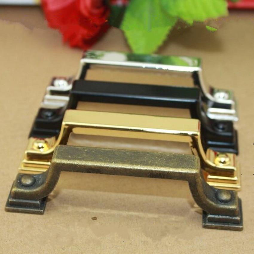 76mm vintage bronze black drawer cabinet pulls knobs 3 modern simple silver gold dresser kitchen cabinet door handles pull knob<br><br>Aliexpress
