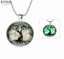 Fashion jewellrey tree of life Glow Jewelry necklace women Towering trees colar vintage collier plastron