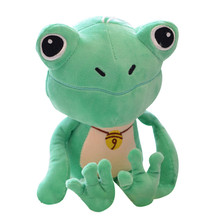 Cute Small Green Frog Plush Dolls With Sucker Toys Stuffed Animal Plush Toys Soft Plush Frog Doll For Holiday Gift Baby Kids Toy