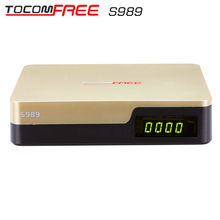 Now Tocomsat best iptv receiver TOCOMFREE S989 Full HD DVB-S2 conversor android tv Twin Tuner cccam newcam Chile brasil America.