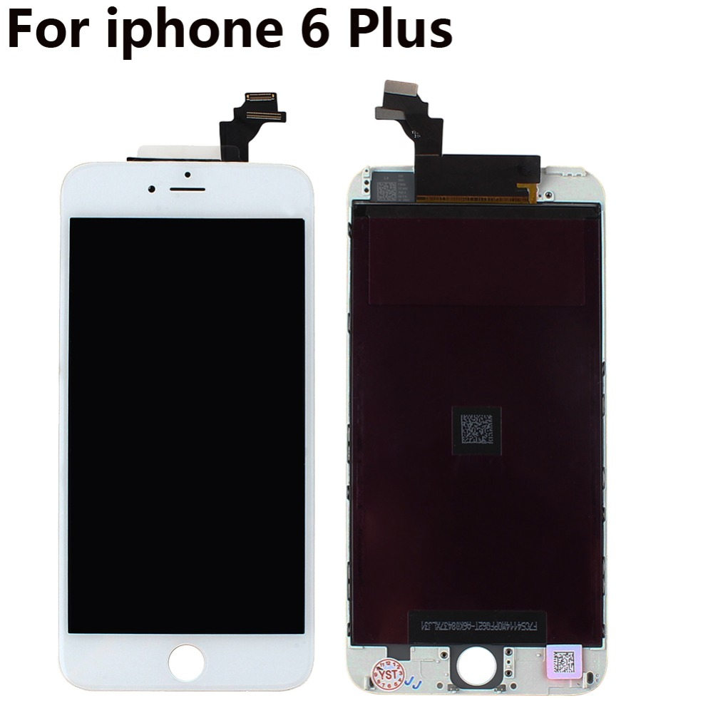 Black/White 5.5 LCD Display with Touch Screen Digitizer Assembly Replacement Repair for iphone 6 Plus + Retail Box<br><br>Aliexpress