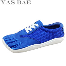 2017 Sale Yas Bae Design Rubber with Five Fingers Outdoor Slip Resistant Breathable Light weight sneakers Climbing Shoe for Men(China)
