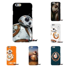 For iPhone 4 4S 5 5S 5C SE 6 6S 7 Plus Galaxy Grand Core Prime Alpha Starwars BB-8 Droid Robot Star Wars BB8 Silicone Phone Case
