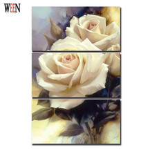 Roses Cuadros Decoracion Vintage Flower Wall Christmas Canvas Pictures For Home Decor Posters and Prints Cheap Wall Art Painting