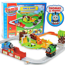 2017 Tomas And Friend Train Railway,car-styling Railroad Rail Track Set Electric Auto Locomotive Gift kids toys for children(China)