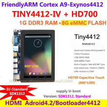 Exynos Quad core A9 Standard TINY4412 IV+ HD700 , 7 inch Capacitive Touch 1280*800 1G RAM 8G Flash FriendlyARM Board Android 4.2