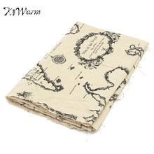 1m*1.5m Vintage Linen Table Cloth World Map Decorative Tablecloth Table Cover Fabric for Home Wedding DIY Materials Decor