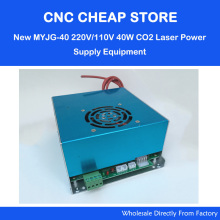 New MYJG-40 220V/110V 40W CO2 Laser Power Supply PSU Equipment For DIY Engraver/ Engraving Cutting Laser Machine K40 3020 3040