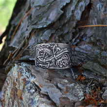 1pc Celtic Dragons Rings Symber Ring Norse Viking Dropshipping Vintage Dragon Anel Bague Men Jewelry