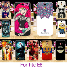 Hard Plastic Case For HTC M8SD Case For HTC One E8 Ace M8SD M8SW M8ST 5.0 inch Painted Case Cover Shell Housing