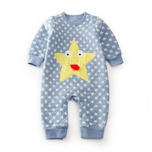 Buy baby winter autumn cartoon stars quilted girl rompers newborn baby boy girl romper clothes jumpsuit baby roupa infantil menino for $9.99 in AliExpress store