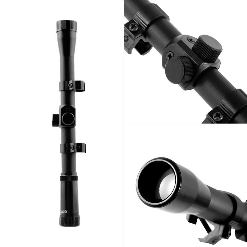 1 pc Mounts Hunting 4x20mm Air Telescopic Scope Sights Sniper Scope scopes Mounts Hunting Scope 22 Caliber outdoor tool