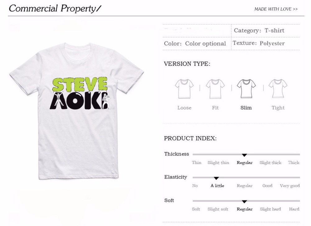 2017 Summer New Men Print STEVE AOKI T-shirt O-Neck Short Sleeves Graphic EDM House Music Festival Ibiza Electro T Shirt Top Tee
