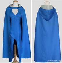 Game of Thrones A Song Of Ice And Fire  Daenerys Targaryen Costume Blue Dress Cloak  Movie Cosplay Halloween Costumes For Women