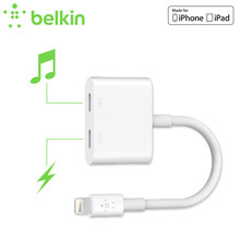 Belkin MFi Certified 8 pin Lightning Audio+Charge Rockstar Adapter Cable  for iPhone 7 Plus 6s for EarPods Headphone F8J198bt