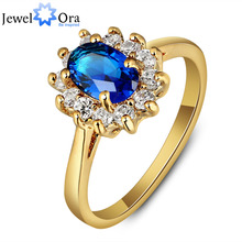 Five Color Option Rings Party Accessories Gold Color Cubic Zirconia Rings For Women Gift For Anniversary (JewelOra RI101848)(China)