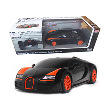 Licensed 1:18 RC Cars Remote Control Car Toys For Boys Machines On The Radio Control Kids Gift Bugatti Grand Sport Vitesse 53900(China)