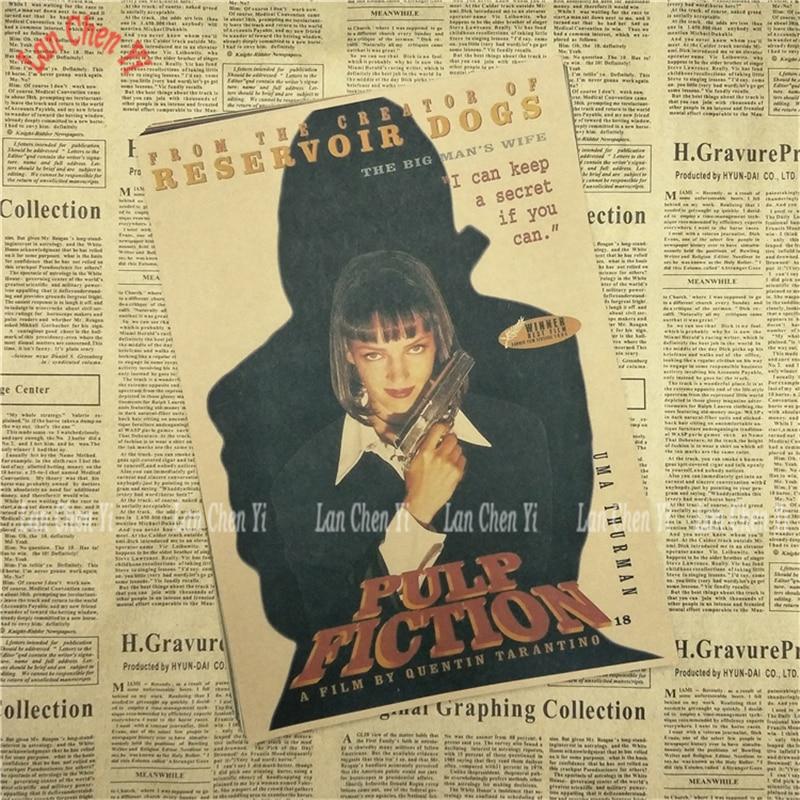 Nostalgic Matte Kraft Paper Poster Pulp Fiction Cafe Creative wallpaper Interior Decoration Free Shipping