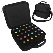3 Color 42 Bottles Essential Oil Carrying Case Make Up Storage Bag For Traveling Sturdy Double Zipper Cosmetic Bag