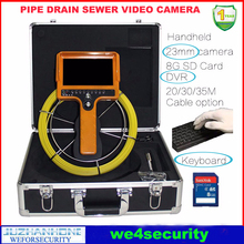 Drain Sewer Pipe Inspection Camera 7-inch LCD Text Writer 8GB SD Card DVR 30m Cable Keyboard USB Keyboard Text Write