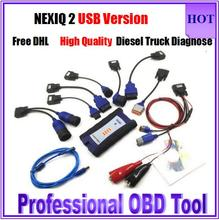 Top Selling NEXIQ USB Link NEXIQ 2 Diesel Truck Diagnostic Tool NEXIQ2 With Bluetooth USB Link Heavy Duty Truck With Software