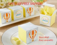 (30 pieces/lot) Unique Baby candy box of Hot Air Balloon Favor Box For DIY paper box and Baby Decoration Gift box(China)