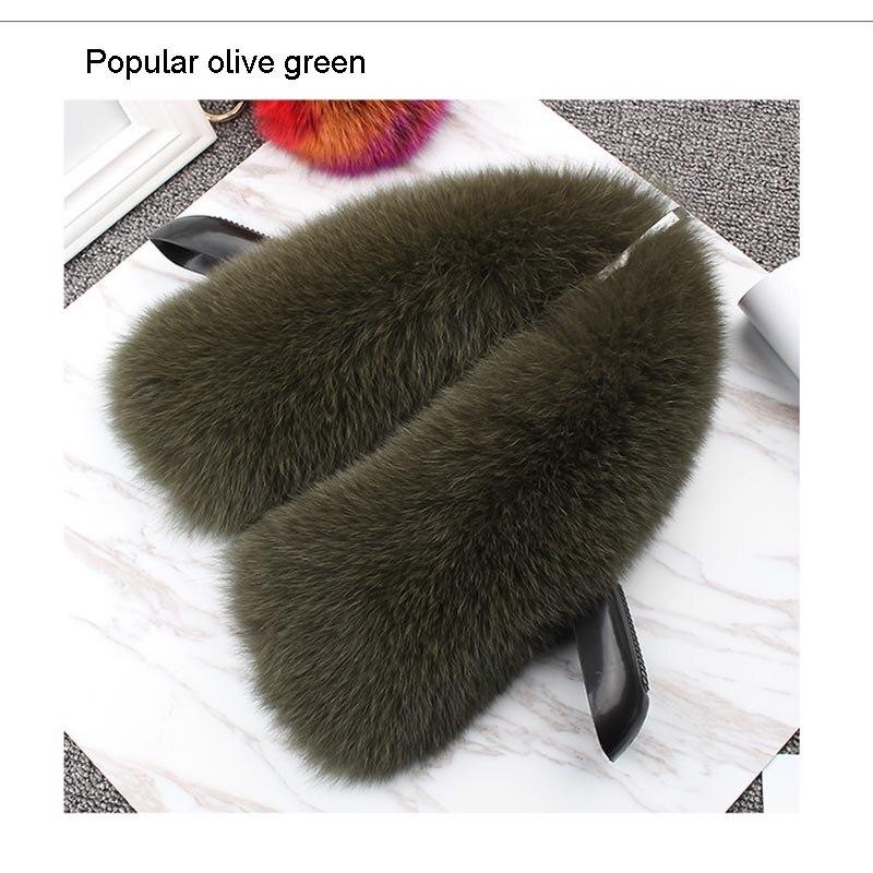 fox fur collar olive green 1