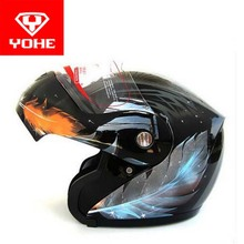 2017 New YOHE open face Motorcycle helmet YH936 knight Safety undrape face Motorbike helmets made of ABS and PC visor lens