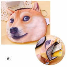 2017 Promotion 3D Oval Animal Prints Mini Coin Bags Women Storage Pouch Cute Dog Wallets Kids Coin Purses