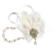 Women's Wedding Vintage Feather Fascinator Headpiece Headband for Fancy Party