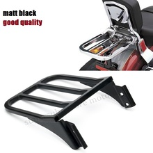 Motorcycle Sport Sissy Bar Backrest Luggage Rack For Harley Sportster XL 04-17 Dyna 06-17