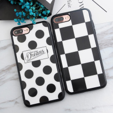 SoCouple Square Polka Dots Live your Dreams Case Soft TPU Case for iphone 8 5s 5 SE 6 6s 6plus 7 7/8 plus X Silicone Phone Cases(China)