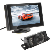 Universal 4.3 Inch Car Monitor 480X272 TFT LCD Car Rear View Monitor Vehicle Auto Car Rearview Reverse Monitor 16:9(China)