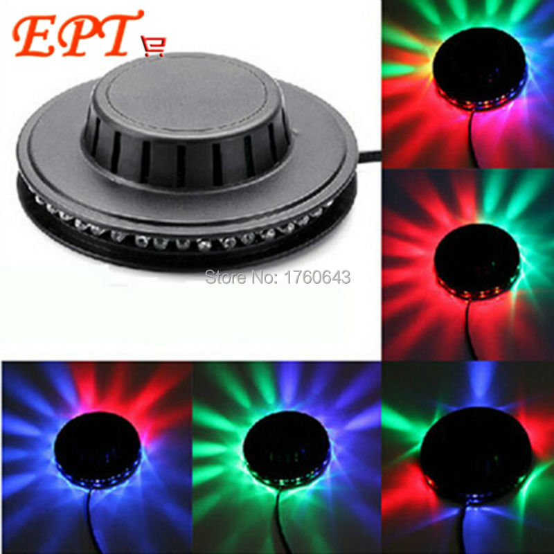 48LED Sound Activated  White/Black Disco DJ Laser Light  LED Stage Lighting Party Wedding Club Projector light US or EU plug<br><br>Aliexpress
