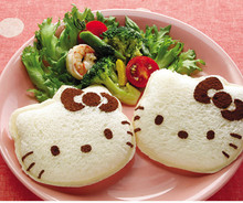 Hello Kitty Sandwich Mold Cutter Bread Biscuits Embossed Device Cake Tools Rice Balls Lunch Mould   H05