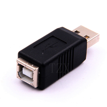 10pcs/lot Hot Sale USB 2.0 A Male to USB B Female Adapter Converter Adaptor for External Hard Disk Printer or Scanner(China)