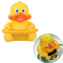 Cute Cartoon Bath Water Thermometers Lovely Duck Bathtub Floating Toy with LCD Screen Water Temperature Thermometer