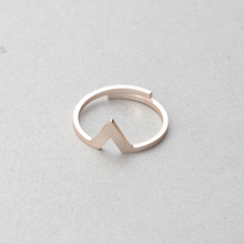 Stainless Steel Anillo Hombre Geometric Minimalism Jewelry Rose Gold Color Exquisite Triangle Rings For Women Bridesmaids Gift(China)