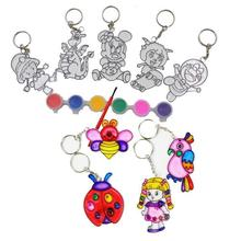 BOHS Sun Catchers for Kids Keychain Painting with Six Colors Pigment,Children Art Diy Toys ,1lot=4Set, 1set=5 Random patterns(China)