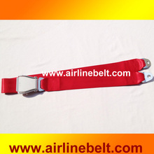 2 Points Airplane Bus Seat Belt Red Color Automotive Bus/Truck/Vehicle Safety Waist Belt Lock