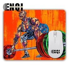 New Design Sports weightlifting competition animation Background pattern Game Mini Rubber Computer Rectangular Mouse Pads